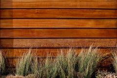 范围水平的板条木头 免版税库存图片