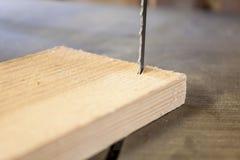 范围设备锯木材加工 库存照片