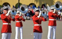 范围corp前进的海军陆战队员 库存图片