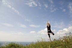 范围xl瑜伽 免版税库存照片