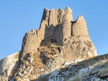 范,土耳其- 2013年9月27日:古老堡垒废墟在范,东土耳其 免版税图库摄影