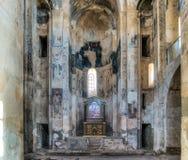 范,土耳其- 2013年9月30日:圣洁发怒Akdamar Kilisesi的大教堂的内部 免版税库存照片