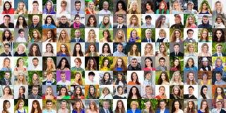 范围从18的不同的白种人妇女和人的汇集 免版税图库摄影