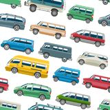 范car传染媒介微型货车交付货物自动车家庭小巴卡车和汽车横幅隔绝了citycar的搬运车 库存照片