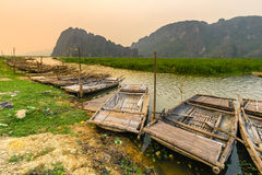 范Long沼泽在NinhBinh,越南 免版税库存图片