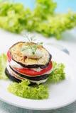 茄子和蕃茄开胃菜  免版税库存图片