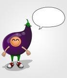 茄子字符 免版税库存照片