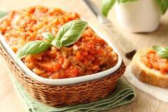 茄子沙拉(鱼子酱) 库存图片