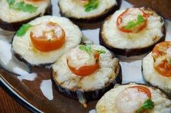 茄子薄饼 免版税库存照片