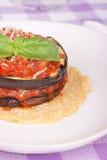 茄子parmigiana 库存图片