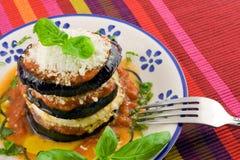 茄子parmigiana 库存照片
