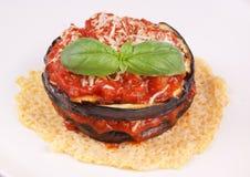 茄子parmigiana 免版税图库摄影