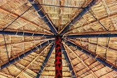 茅屋顶。 库存照片
