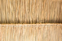 茅屋顶纹理在小屋的在乡下 免版税库存图片