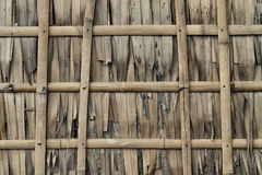 茅草屋顶和竹子墙壁 免版税库存照片