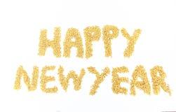 茉莉花米带来了组织入新年快乐 库存照片
