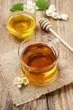 茉莉花茶和蜂蜜 库存图片