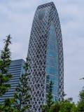 茧塔叫东京方式Gakuen -著名大厦在城市-东京,日本- 2018年6月17日 库存图片