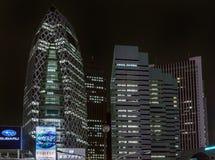 茧夜照片和建造L在东京 免版税库存图片