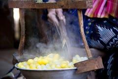 茧罐煮沸 库存照片