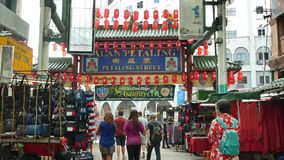 茨厂街是位于吉隆坡,马来西亚的唐人街 影视素材