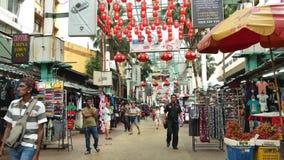 茨厂街是位于吉隆坡,马来西亚的唐人街 股票录像