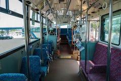 茨城木津公共汽车的内部 免版税库存照片