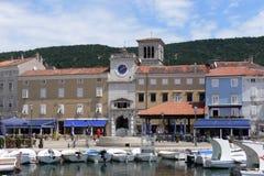 茨雷斯岛都市风景在克罗地亚 库存照片