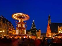 茨维考圣诞节市场 免版税库存照片