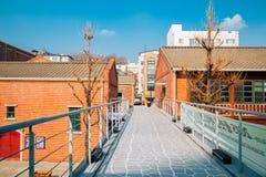 茵契隆开放口岸街道在韩国 库存图片