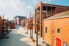茵契隆开放口岸街道在韩国 免版税库存照片