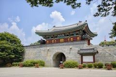 茵契隆,韩国- 2014年7月27日:Gwangseongbo堡垒 免版税库存图片