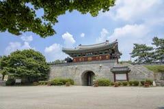 茵契隆,韩国- 2014年7月27日:Gwangseongbo堡垒 免版税库存照片