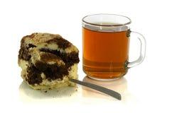 茶与匙子的和轻松的事 图库摄影