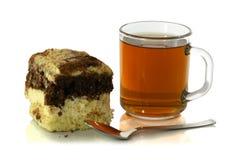 茶与匙子的和轻松的事 库存图片