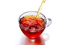 茶与被隔绝的飞溅的 免版税图库摄影