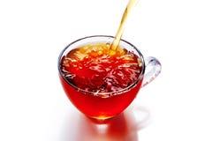 茶与被隔绝的飞溅的 免版税库存图片