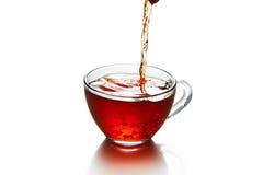 茶与被隔绝的飞溅的 库存图片