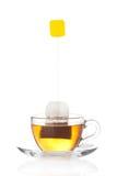 茶与里面袋子(空白标签)的 免版税库存图片