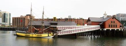茶会博物馆在波士顿马萨诸塞 库存照片