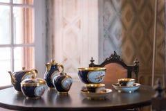 茶具里面贝纳宫殿在辛特拉, 库存照片