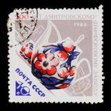 茶具,系列` Dmitrov `陶瓷工作的200th周年,大约1966年 免版税库存照片