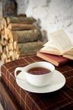 茶冬天 免版税库存图片