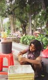 茶卖主 图库摄影