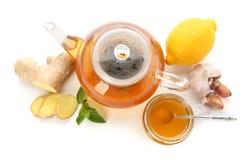 茶和其他冷的补救 免版税图库摄影