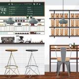茶和咖啡店事务 免版税库存照片
