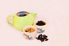 茶和快餐 免版税库存图片