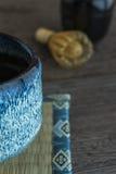 绿茶和扫 免版税库存照片