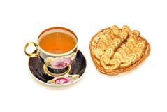 茶和曲奇饼 免版税图库摄影