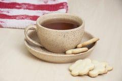 茶和曲奇饼 库存图片